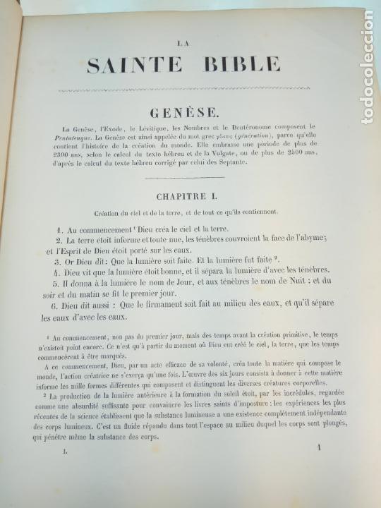 Libros antiguos: BELLÍSIMA SANTA BIBLIA EN 5 TOMOS - LEMAISTRE DE SACY - EXTRAORDINARIOS GRABADOS - 1857 - PARÍS - - Foto 12 - 142910874