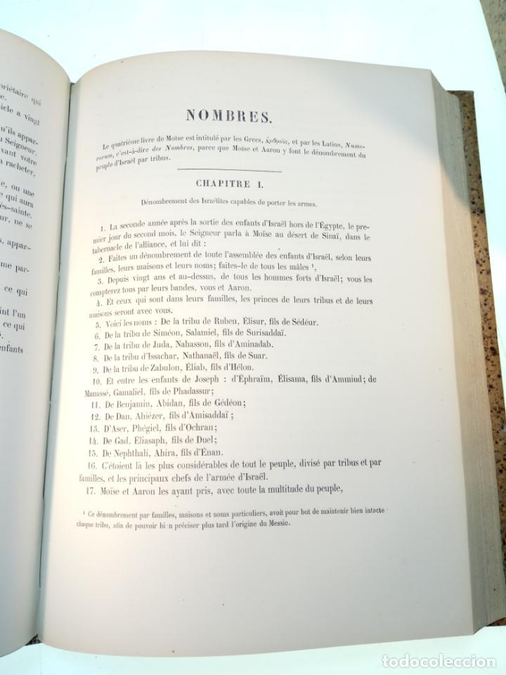 Libros antiguos: BELLÍSIMA SANTA BIBLIA EN 5 TOMOS - LEMAISTRE DE SACY - EXTRAORDINARIOS GRABADOS - 1857 - PARÍS - - Foto 19 - 142910874