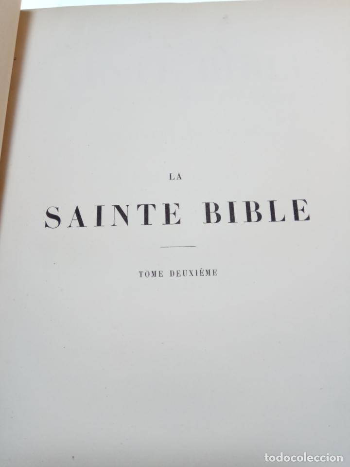 Libros antiguos: BELLÍSIMA SANTA BIBLIA EN 5 TOMOS - LEMAISTRE DE SACY - EXTRAORDINARIOS GRABADOS - 1857 - PARÍS - - Foto 25 - 142910874