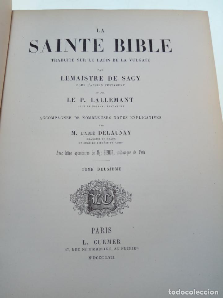 Libros antiguos: BELLÍSIMA SANTA BIBLIA EN 5 TOMOS - LEMAISTRE DE SACY - EXTRAORDINARIOS GRABADOS - 1857 - PARÍS - - Foto 26 - 142910874