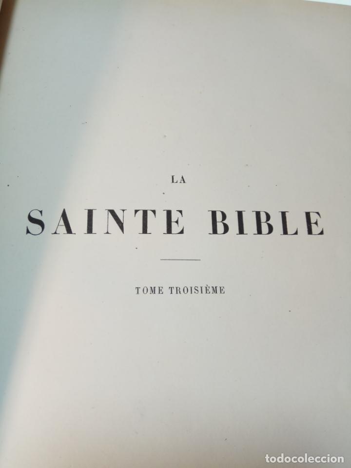 Libros antiguos: BELLÍSIMA SANTA BIBLIA EN 5 TOMOS - LEMAISTRE DE SACY - EXTRAORDINARIOS GRABADOS - 1857 - PARÍS - - Foto 37 - 142910874