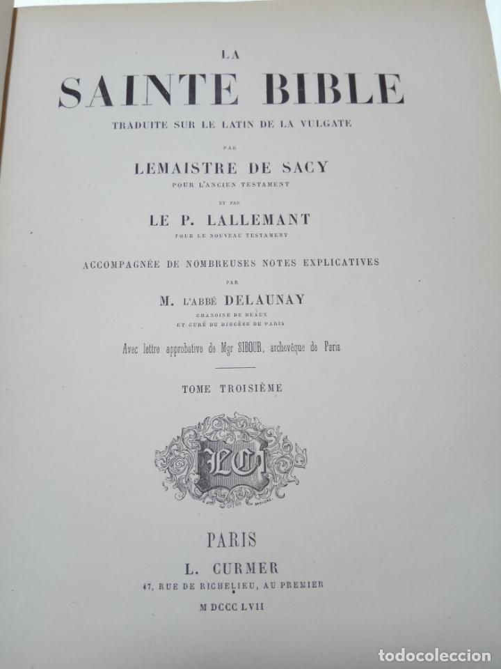 Libros antiguos: BELLÍSIMA SANTA BIBLIA EN 5 TOMOS - LEMAISTRE DE SACY - EXTRAORDINARIOS GRABADOS - 1857 - PARÍS - - Foto 38 - 142910874