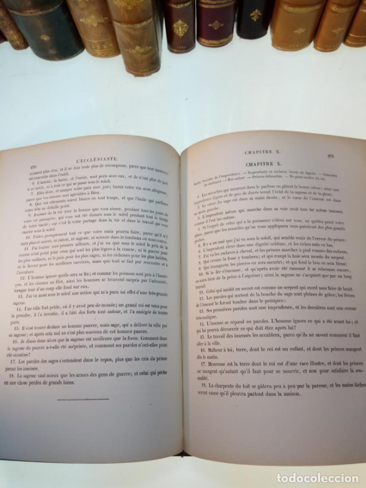 Libros antiguos: BELLÍSIMA SANTA BIBLIA EN 5 TOMOS - LEMAISTRE DE SACY - EXTRAORDINARIOS GRABADOS - 1857 - PARÍS - - Foto 41 - 142910874