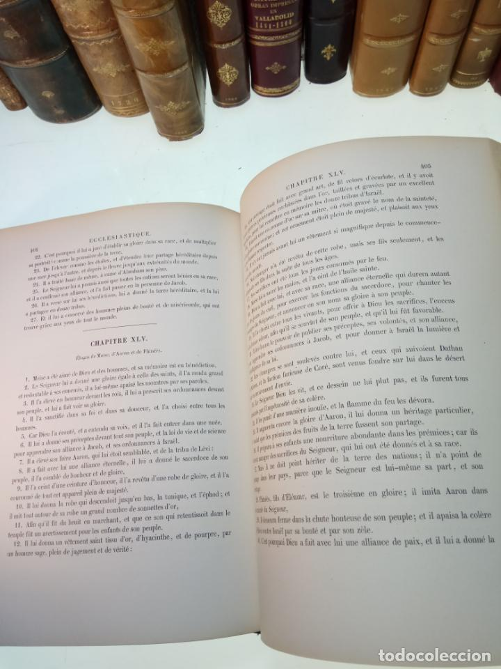 Libros antiguos: BELLÍSIMA SANTA BIBLIA EN 5 TOMOS - LEMAISTRE DE SACY - EXTRAORDINARIOS GRABADOS - 1857 - PARÍS - - Foto 42 - 142910874