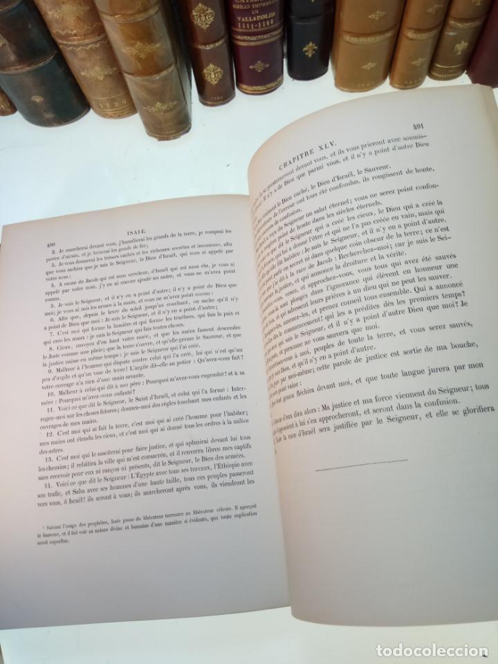 Libros antiguos: BELLÍSIMA SANTA BIBLIA EN 5 TOMOS - LEMAISTRE DE SACY - EXTRAORDINARIOS GRABADOS - 1857 - PARÍS - - Foto 43 - 142910874
