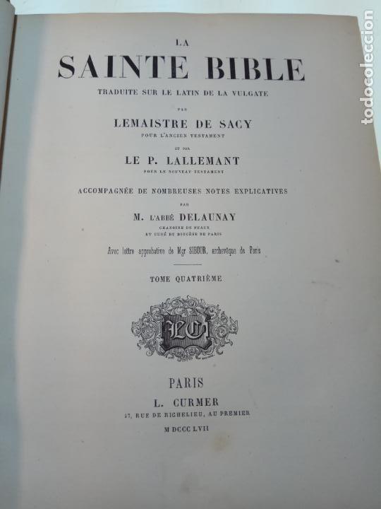 Libros antiguos: BELLÍSIMA SANTA BIBLIA EN 5 TOMOS - LEMAISTRE DE SACY - EXTRAORDINARIOS GRABADOS - 1857 - PARÍS - - Foto 48 - 142910874