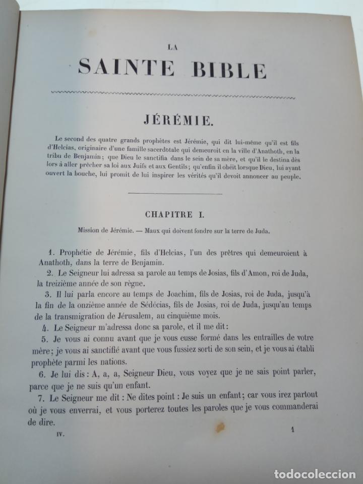 Libros antiguos: BELLÍSIMA SANTA BIBLIA EN 5 TOMOS - LEMAISTRE DE SACY - EXTRAORDINARIOS GRABADOS - 1857 - PARÍS - - Foto 49 - 142910874