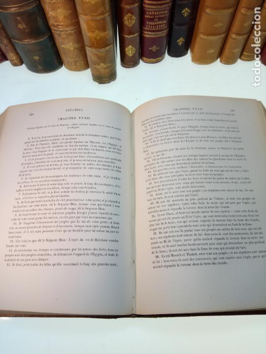 Libros antiguos: BELLÍSIMA SANTA BIBLIA EN 5 TOMOS - LEMAISTRE DE SACY - EXTRAORDINARIOS GRABADOS - 1857 - PARÍS - - Foto 51 - 142910874