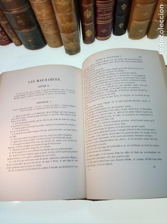 Libros antiguos: BELLÍSIMA SANTA BIBLIA EN 5 TOMOS - LEMAISTRE DE SACY - EXTRAORDINARIOS GRABADOS - 1857 - PARÍS - - Foto 53 - 142910874