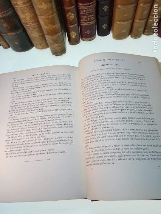 Libros antiguos: BELLÍSIMA SANTA BIBLIA EN 5 TOMOS - LEMAISTRE DE SACY - EXTRAORDINARIOS GRABADOS - 1857 - PARÍS - - Foto 54 - 142910874