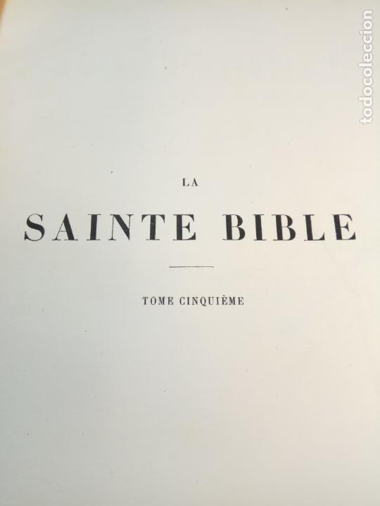 Libros antiguos: BELLÍSIMA SANTA BIBLIA EN 5 TOMOS - LEMAISTRE DE SACY - EXTRAORDINARIOS GRABADOS - 1857 - PARÍS - - Foto 58 - 142910874