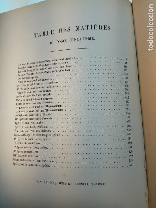 Libros antiguos: BELLÍSIMA SANTA BIBLIA EN 5 TOMOS - LEMAISTRE DE SACY - EXTRAORDINARIOS GRABADOS - 1857 - PARÍS - - Foto 76 - 142910874