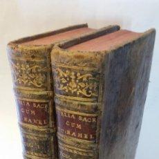 Libros antiguos: 1778 - BIBLIA SACRA VULGATAE EDITIONIS - 2 TOMOS, COMPLETA, IBARRA. Lote 142992434