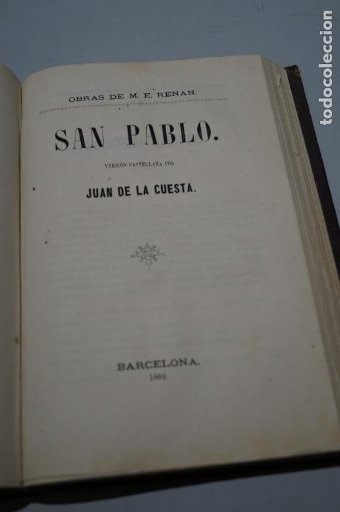 Libros antiguos: VIDA DE JESUS, LOS APOSTOLES Y SAN PABLO. ERNESTO RENAN. 1869 - Foto 2 - 143619722