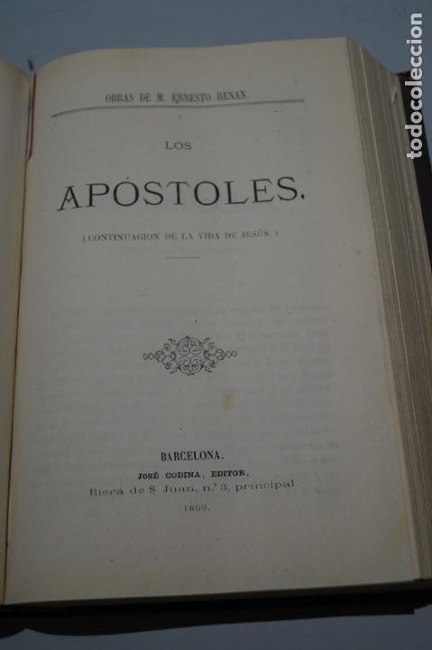 Libros antiguos: VIDA DE JESUS, LOS APOSTOLES Y SAN PABLO. ERNESTO RENAN. 1869 - Foto 3 - 143619722