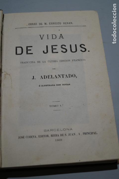 Libros antiguos: VIDA DE JESUS, LOS APOSTOLES Y SAN PABLO. ERNESTO RENAN. 1869 - Foto 5 - 143619722
