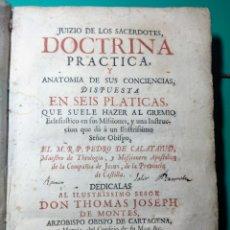 Libros antiguos: 1736, JUICIO DE LOS SACERDOTES DE PEDRO DE CALATAYUD. Lote 144283141