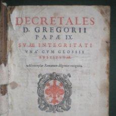Libros antiguos: DECRETALES D. GREGORII PAPÆ IX. DECRETALES DE GREGORIO IX, IMPRESO EN VENECIA EN EL AÑO 1595. Lote 121055775