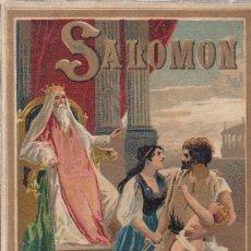 Libros antiguos: P. BERTHE. SALOMÓN. NARRACIONES BÍBLICAS. MADRID, SATURNINO CALLEJA, 1897. EXCELENTE CONSERVA. Lote 144465178