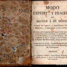 Libros antiguos: JOSEPH HIVERN : MODO EXPEDIT Y PRACTICH DE AJUDAR A BÉ MORIR (C. 1800). Lote 144988782