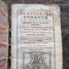 Libros antiguos: LIBRO BREVIARIUM ROMANUM EX DECRETO Y SANTORUM NICOLAUM PEZZANA AÑO 1757 EN LATIN P IDEM. Lote 33778136