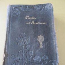Libros antiguos: VISITAS AL SANTÍSIMO 1900 TAPA DURA CON GRABADO MODERNISTA ART NOUVEAU SAN ALFONSO MARIA DE LIGORIO. Lote 145141358