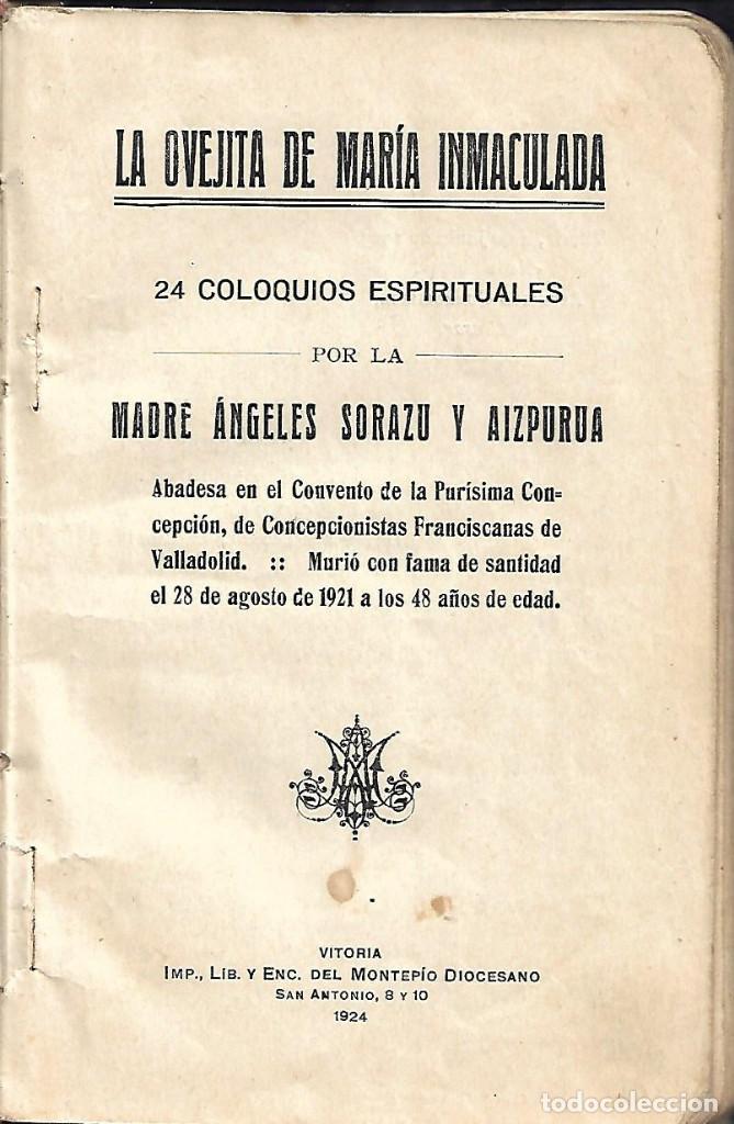 Libros antiguos: ANTIGUO LIBRO DE 1924 24 COLOQUIOS ESPIRITUALES 98 PAGINAS - Foto 2 - 145316330