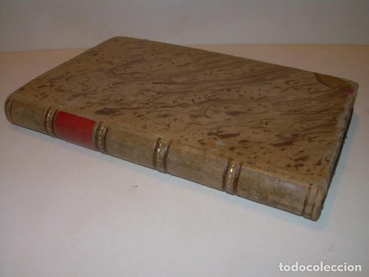LIBRO TAPAS DE PIEL.TRATADO DE LAS VIRGENES ESCRITO POR SAN AMBROSIO. (Libros Antiguos, Raros y Curiosos - Religión)