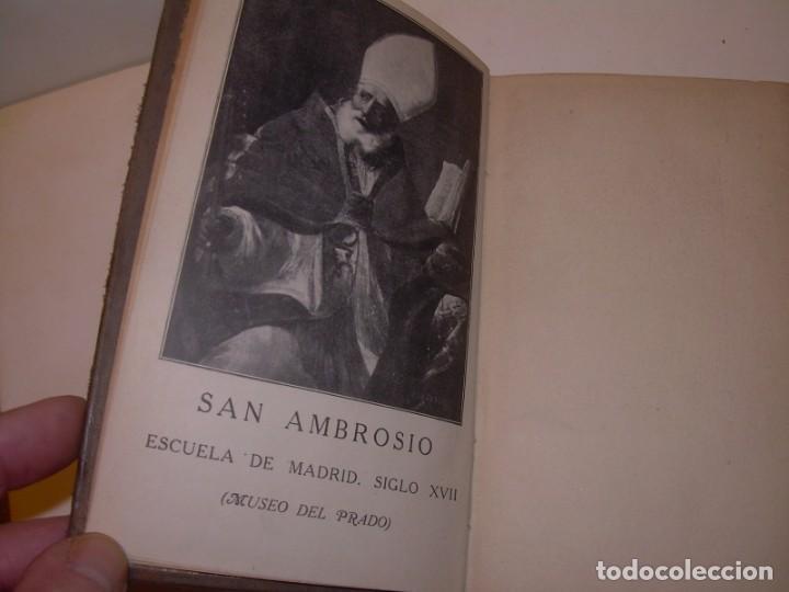 Libros antiguos: LIBRO TAPAS DE PIEL.TRATADO DE LAS VIRGENES ESCRITO POR SAN AMBROSIO. - Foto 3 - 145648350
