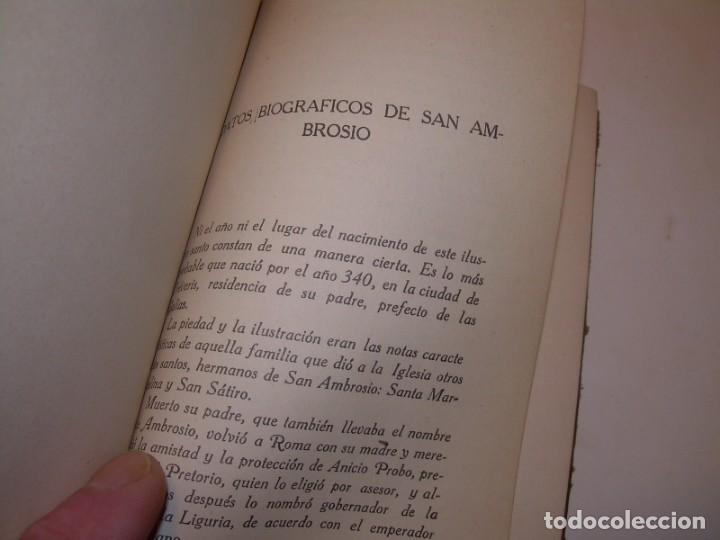 Libros antiguos: LIBRO TAPAS DE PIEL.TRATADO DE LAS VIRGENES ESCRITO POR SAN AMBROSIO. - Foto 5 - 145648350