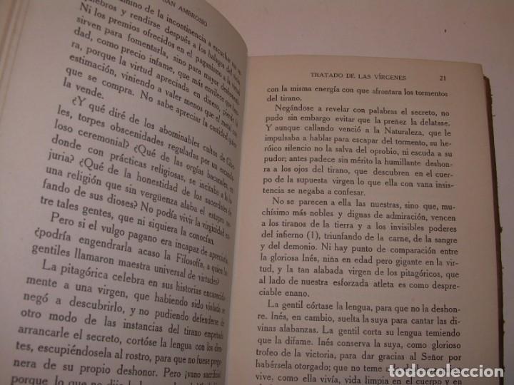 Libros antiguos: LIBRO TAPAS DE PIEL.TRATADO DE LAS VIRGENES ESCRITO POR SAN AMBROSIO. - Foto 6 - 145648350
