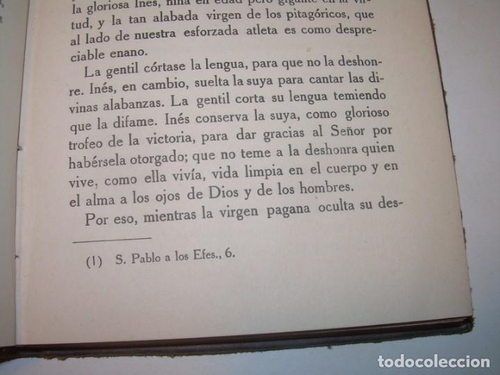 Libros antiguos: LIBRO TAPAS DE PIEL.TRATADO DE LAS VIRGENES ESCRITO POR SAN AMBROSIO. - Foto 7 - 145648350