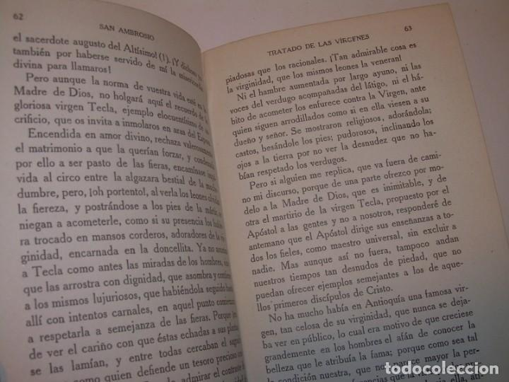Libros antiguos: LIBRO TAPAS DE PIEL.TRATADO DE LAS VIRGENES ESCRITO POR SAN AMBROSIO. - Foto 8 - 145648350