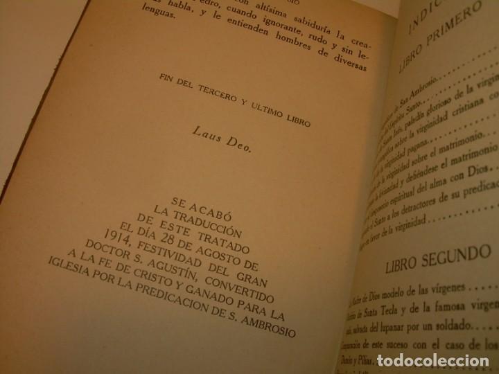 Libros antiguos: LIBRO TAPAS DE PIEL.TRATADO DE LAS VIRGENES ESCRITO POR SAN AMBROSIO. - Foto 9 - 145648350