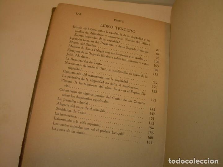 Libros antiguos: LIBRO TAPAS DE PIEL.TRATADO DE LAS VIRGENES ESCRITO POR SAN AMBROSIO. - Foto 11 - 145648350