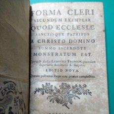 Libros antiguos: FORMA CLERI. 1770. DE LUDOVICI TRONSON. Lote 145663073