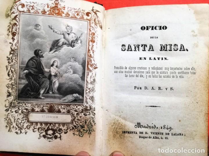 OFICIO DE LA SANTA MISA EN LATIN 1949 (Libros Antiguos, Raros y Curiosos - Religión)