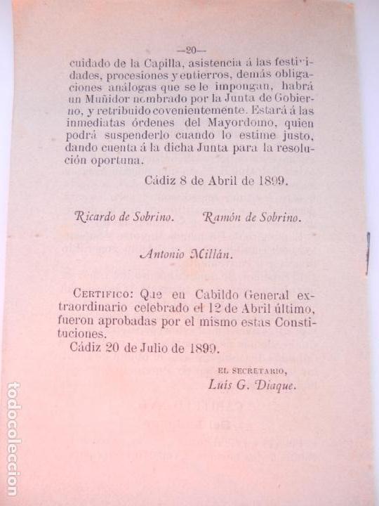Libros antiguos: CONSTITUCIONES REFORMADAS DE LA C. DE NTRA. MADRE Y SRA. DEL CARMEN - TIP. EL CORREO DE CÁDIZ 1910. - Foto 4 - 146310782