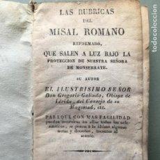 Libros antiguos: MAGNIFICO LIBRO, LAS RUBRICAS DEL MISAL ROMANO, CUBIERTA EN PERGAMINO. Lote 207773057