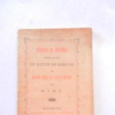 Libros antiguos: TRIDUOS DE SÚPLICAS Y DE ACCIÓN DE GRACIAS A NTRA. SRA. DEL PERPETUO SOCORRO-TIP. CATÓLICA 1896.. Lote 146575802