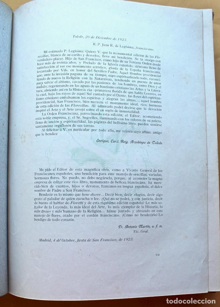 Libros antiguos: FLORECILLAS DE SAN FRANCISCO DE ASÍS. ILUSTR. JOSÉ SEGRELLES. 1923. - Foto 8 - 146885062