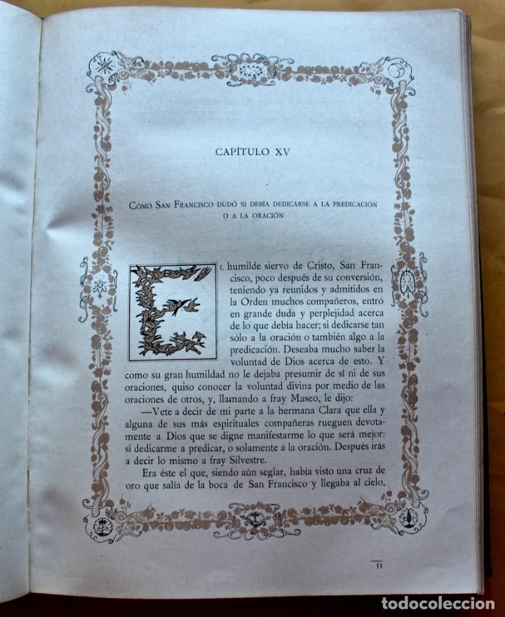 Libros antiguos: FLORECILLAS DE SAN FRANCISCO DE ASÍS. ILUSTR. JOSÉ SEGRELLES. 1923. - Foto 15 - 146885062