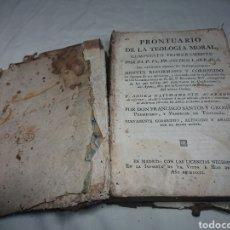 Libros antiguos: PRONTUARIO DE LA TEOLOGÍA MORAL - FRANCISCO LARRAGA, 1801. Lote 147595826