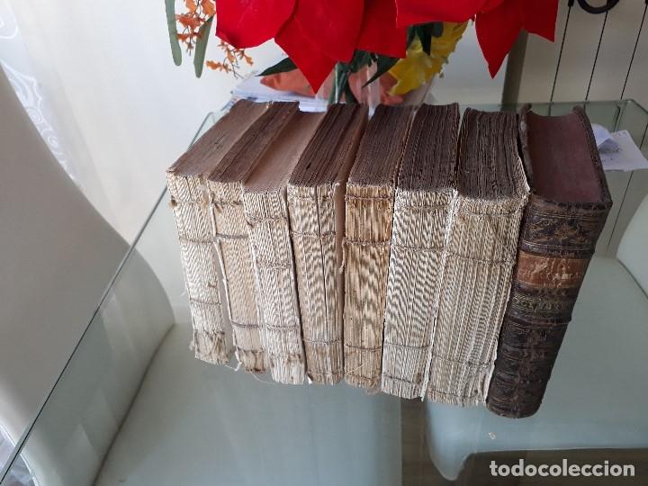 LOTE DE 10 LIBROS SIGLO XVIII ALGUNAS PÁGINAS DE QUIXOTE SIGLO XVIII. QUIJOTE (Libros Antiguos, Raros y Curiosos - Religión)