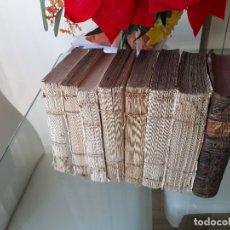 Libros antiguos: LOTE DE 10 LIBROS SIGLO XVIII ALGUNAS PÁGINAS DE QUIXOTE SIGLO XVIII. QUIJOTE. Lote 105207467