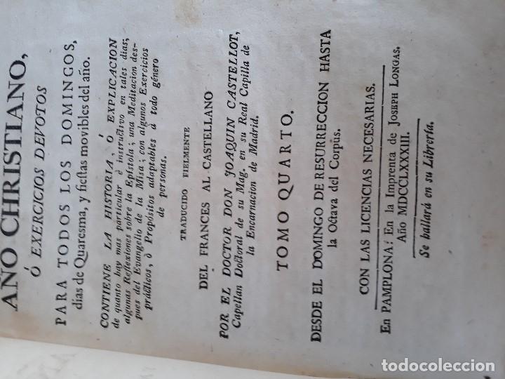 Libros antiguos: Lote de 10 libros siglo XVIII Algunas páginas de Quixote siglo XVIII. Quijote - Foto 24 - 105207467