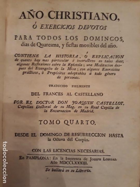 Libros antiguos: Lote de 10 libros siglo XVIII Algunas páginas de Quixote siglo XVIII. Quijote - Foto 7 - 105207467