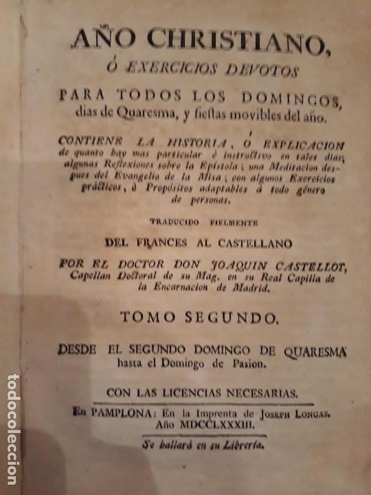 Libros antiguos: Lote de 10 libros siglo XVIII Algunas páginas de Quixote siglo XVIII. Quijote - Foto 8 - 105207467