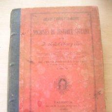 Libros antiguos: LIBRO, NOCIONES DE HISTORIA SAGRADA, RAFAEL OLIVER Y CLARI, VALENCIA, 1892. Lote 147793482