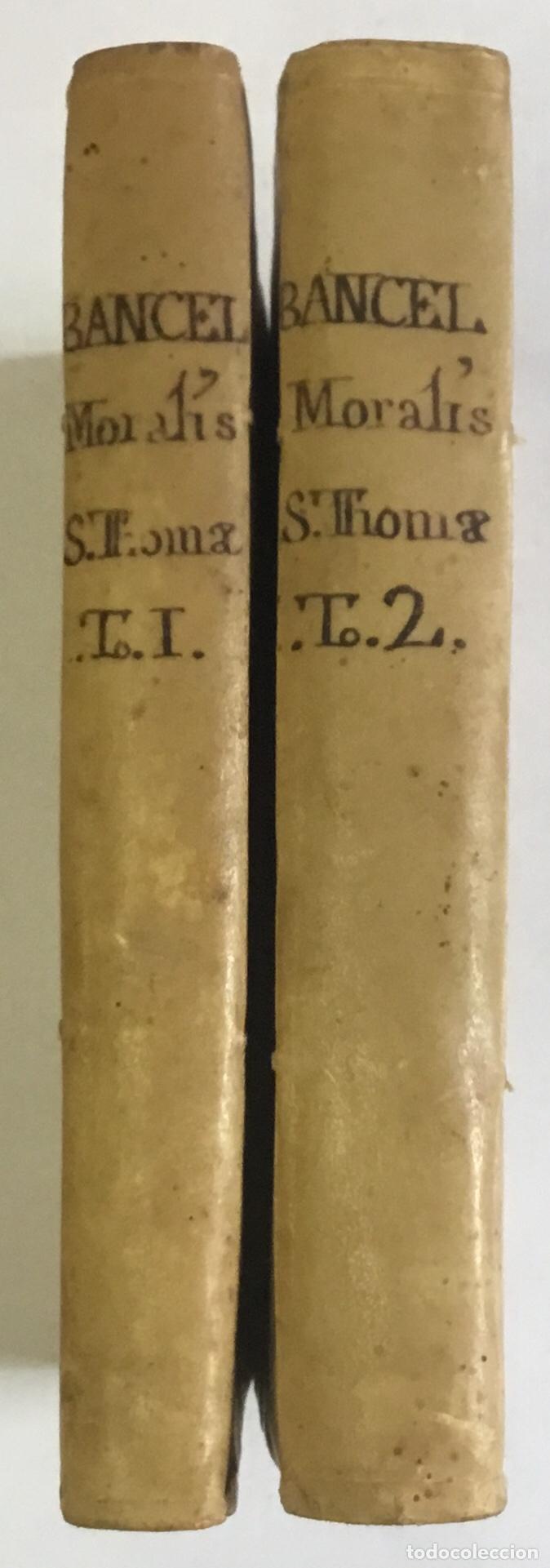 MORALIS D. THOMAE AQUINATIS DOCTORIS ANGELICI ORDINIS..... VENETIIS 1757. 2 TOMOS. PERGAMINO. (Libros Antiguos, Raros y Curiosos - Religión)